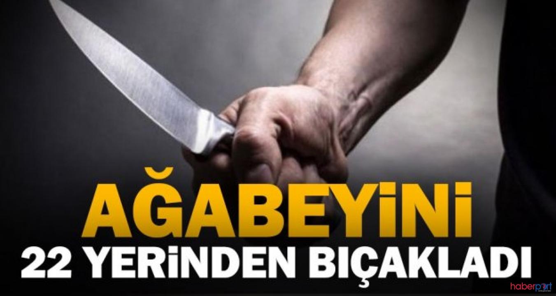 Kavga ettiği ağabeyini 22 bıçak darbesiyle öldürdü