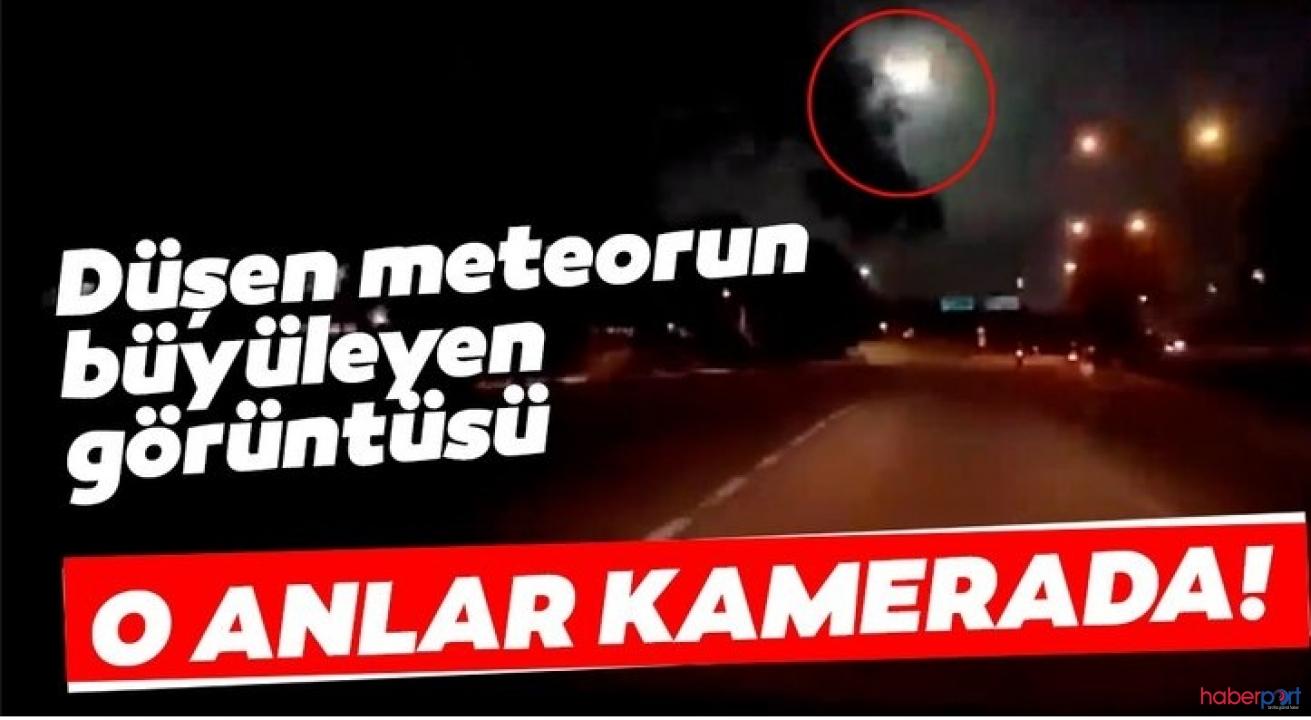 Malezya'da Meteorun düşme anı görüntülendi