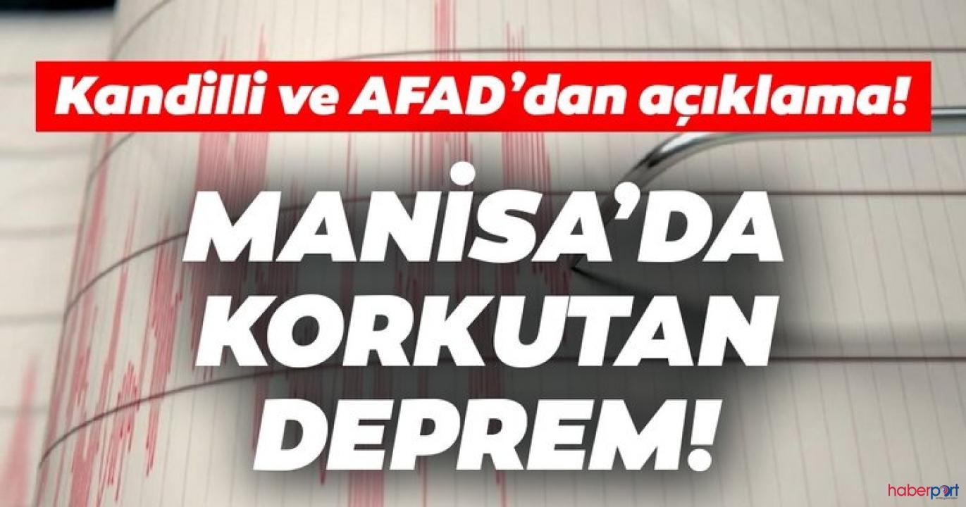 Manisa'da deprem! 5.0 büyüklüğünde ki son deprem İzmir'de de hissedildi