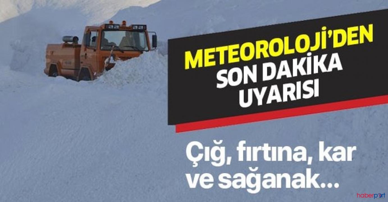 Meteoroloji'den hafta sonu için kar ve çığ tehlikesi uyarısı!