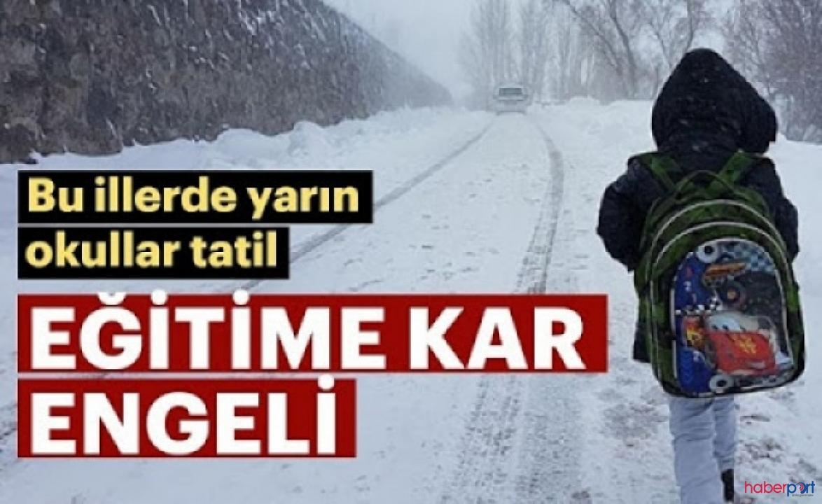 Meteoroloji uyardı! 14 Şubat Cuma günü o illerde okullar tatil edildi