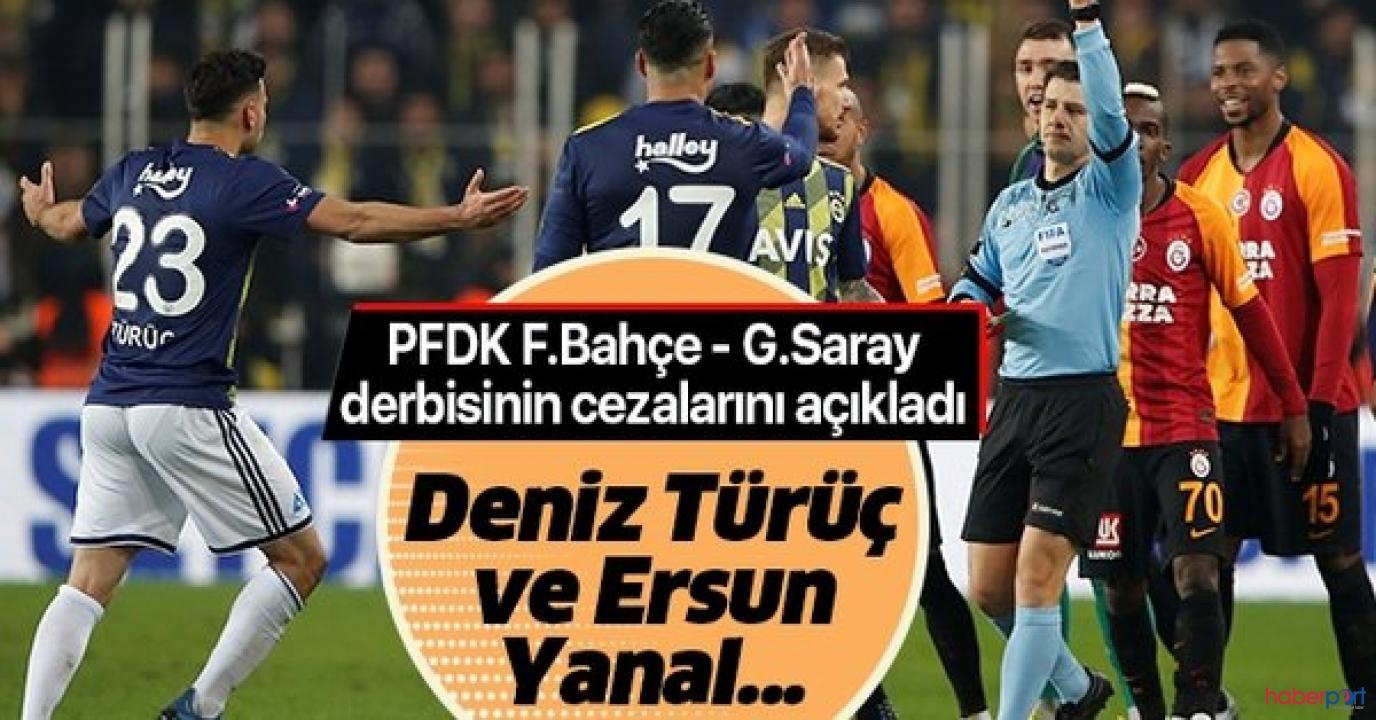 PFDK, Fenerbahçe-Galatasaray derbisinin cezalarını açıkladı