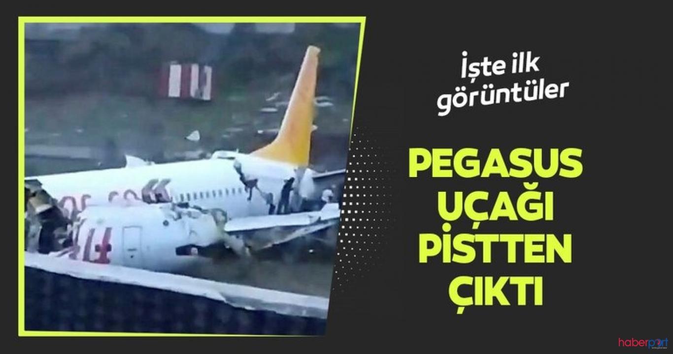 Sabiha Gökçen'de pistten çıkan Pegasus uçağı üçe bölündü! 120 kişi yaralandı