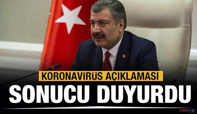 Sağlık Bakanı Koca'dan, Çin'den gelen Türk vatandaşlarla ilgili son durum açıklaması