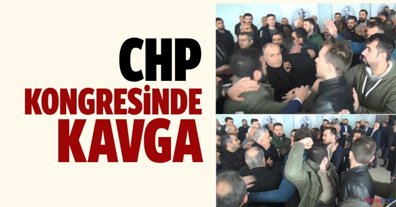 Şanlıurfa'da CHP kongresinde yumruklar havada uçuştu