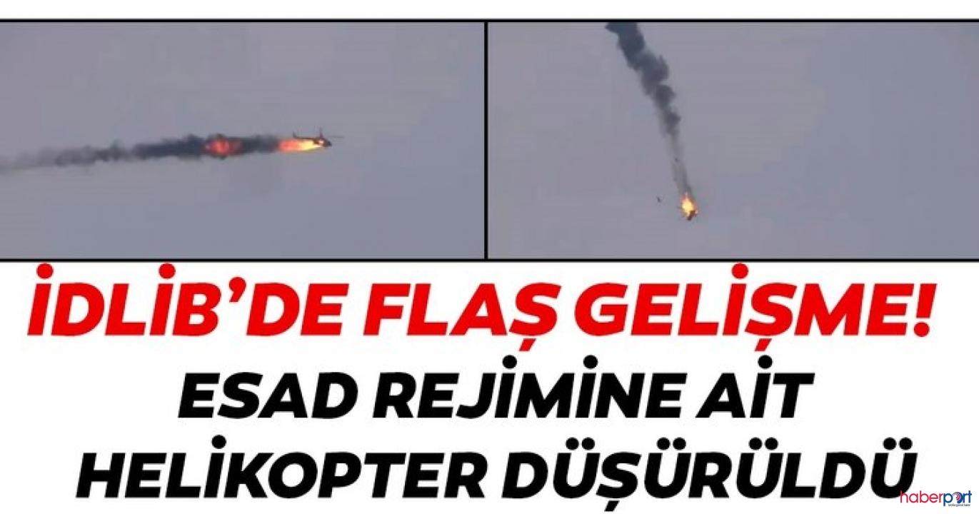 Suriye'de gerginlik! Esad güçlerinin helikopteri düşürüldü