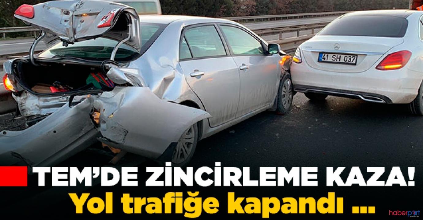 TEM Otoyolu'nda zincirleme kaza! 6 araç birbirine girdi