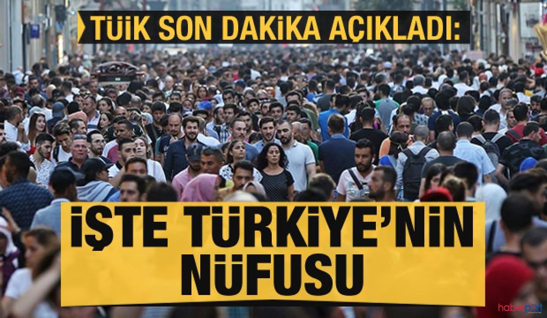TÜİK istatistiklerine göre Türkiye'nin nüfusu 83 milyonu aştı