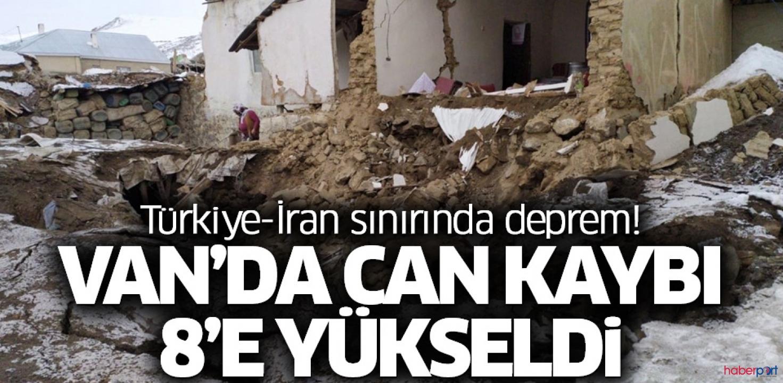 Van depreminde ölü sayısı 8'e yükseldi! 21 kişi enkaz altından kurtarıldı