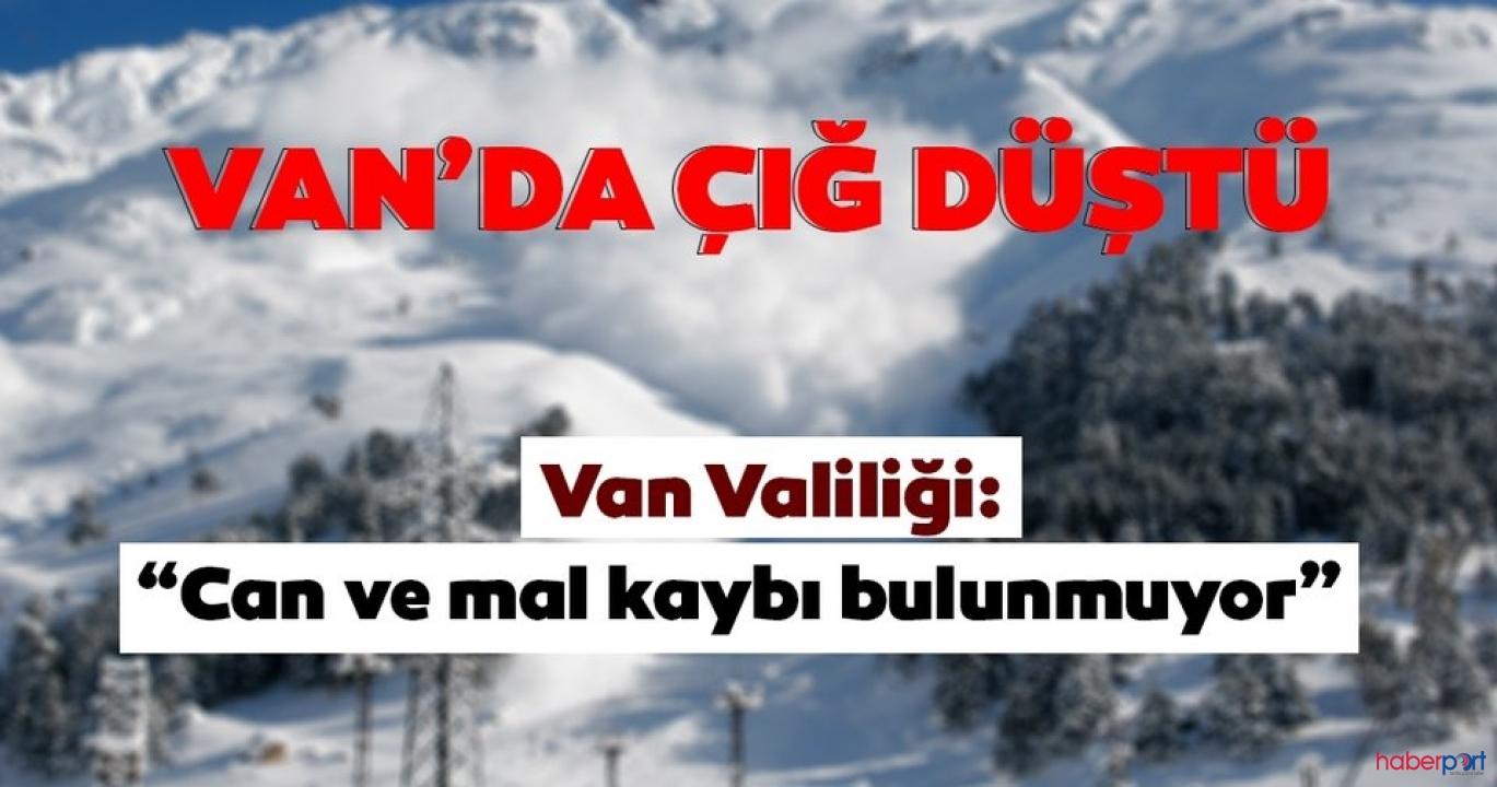 Van Valiliği, Çatak-Van kara yoluna çığ düştüğünü bildirdi