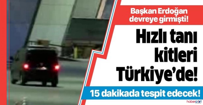 15 dakikada virüs tespiti yapan hızlı tanı kitleri Çin'den Türkiye'ye ulaştı