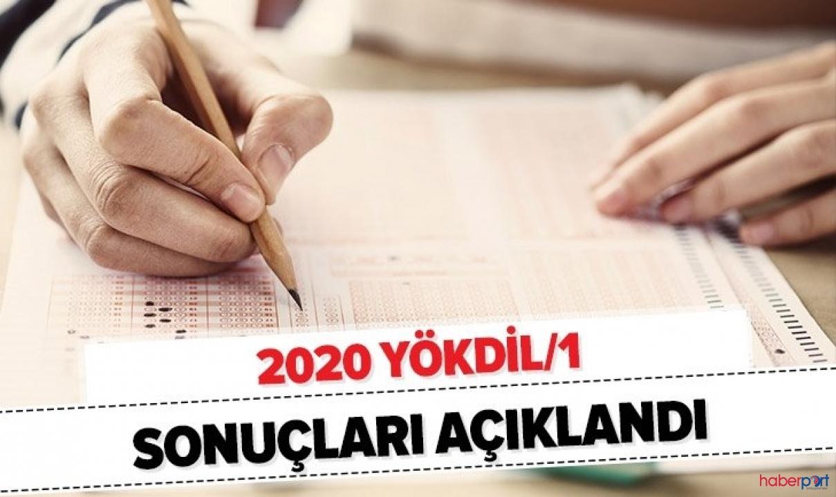 2020 YÖKDİL sınav sonuçları açıklandı! ÖSYM sınav sonuç ekranı!
