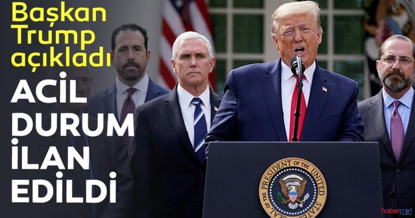 ABD Başkanı Trump, ülke genelinde ulusal acil durum ilan etti!