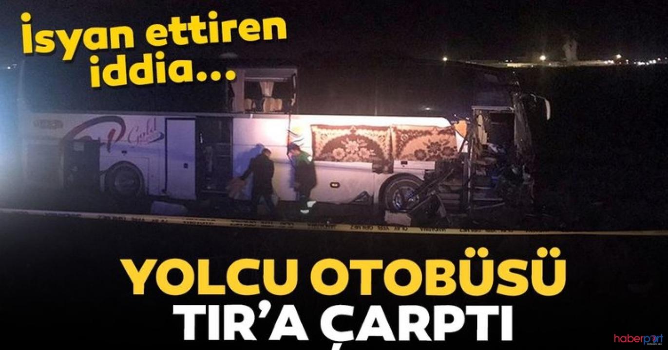 Aksaray-Adana yolunda yolcu otobüsü ve TIR çarpıştı! 44 kişi yaralandı!