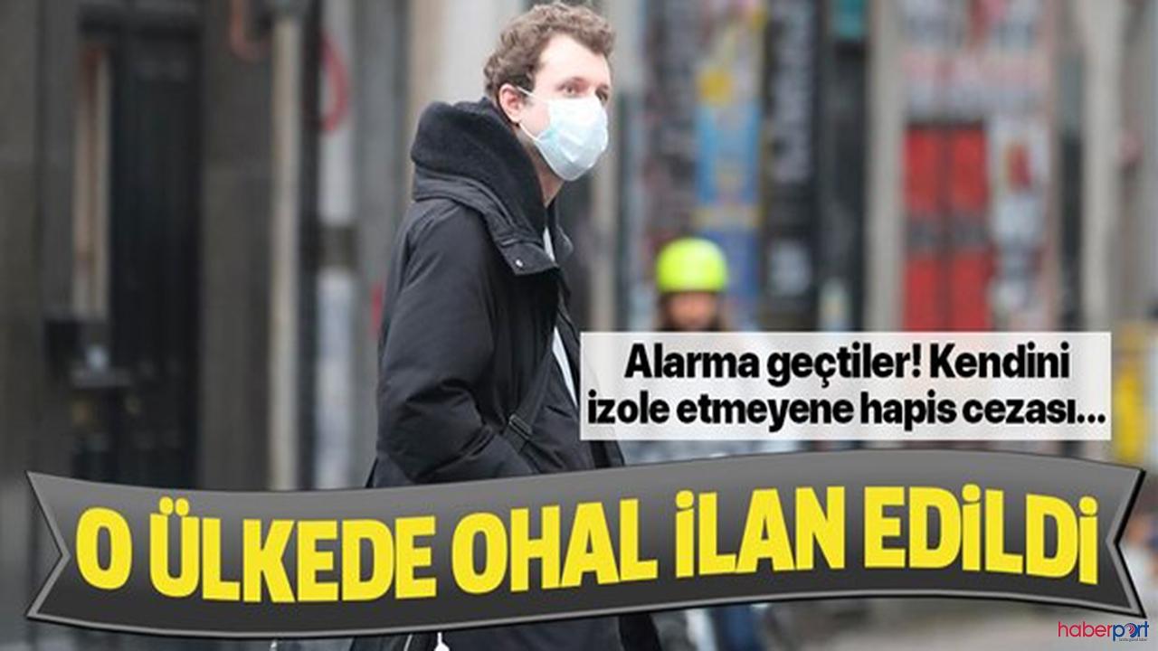 Bir ülke daha korona-virüsüne karşı OHAL ilan etti!