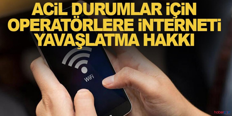 BTK'dan internet sağlayıcılarına acil durumlarda yavaşlatma hakkı tanıdı