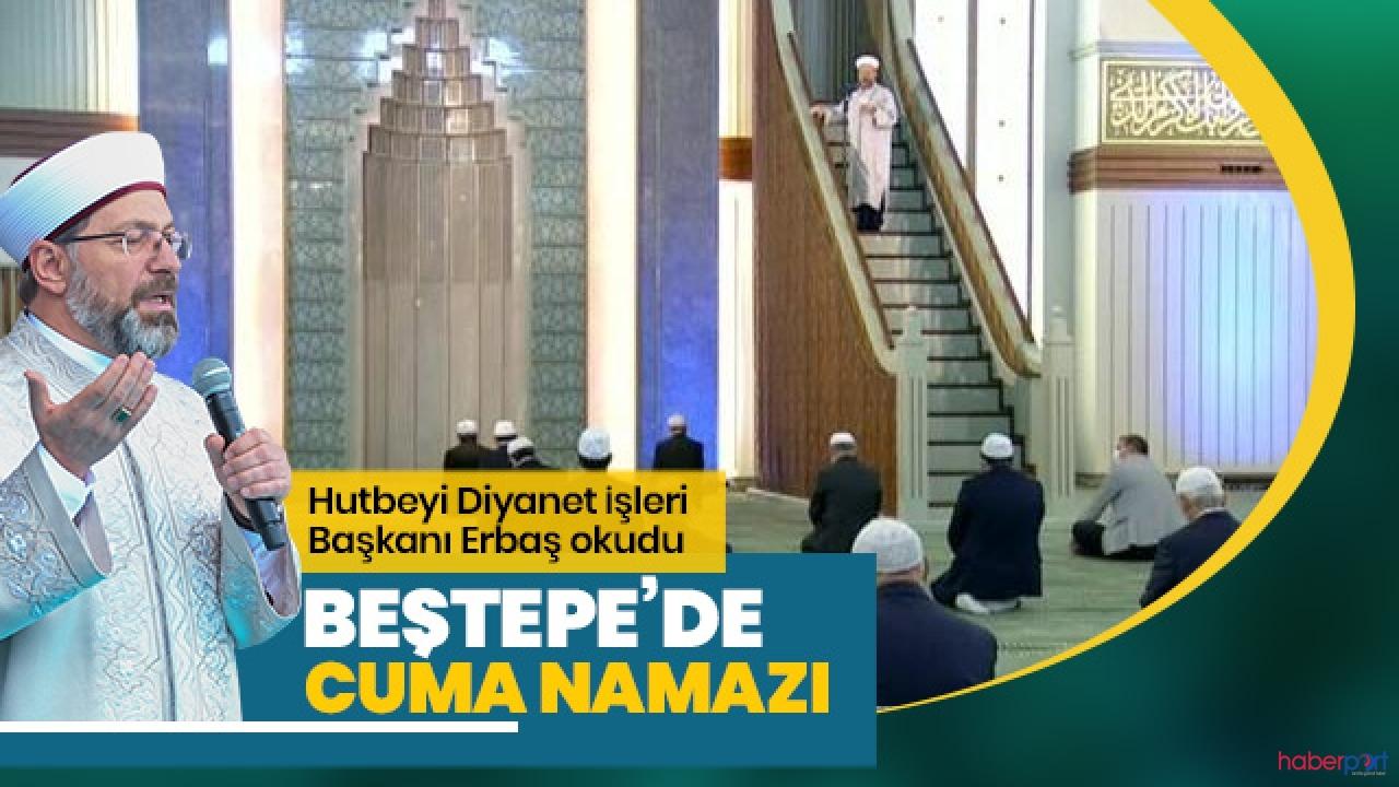 Cemaatle kılınmasına ara verilen Cuma namazı sadece Beştepe Camisi'nde kılındı