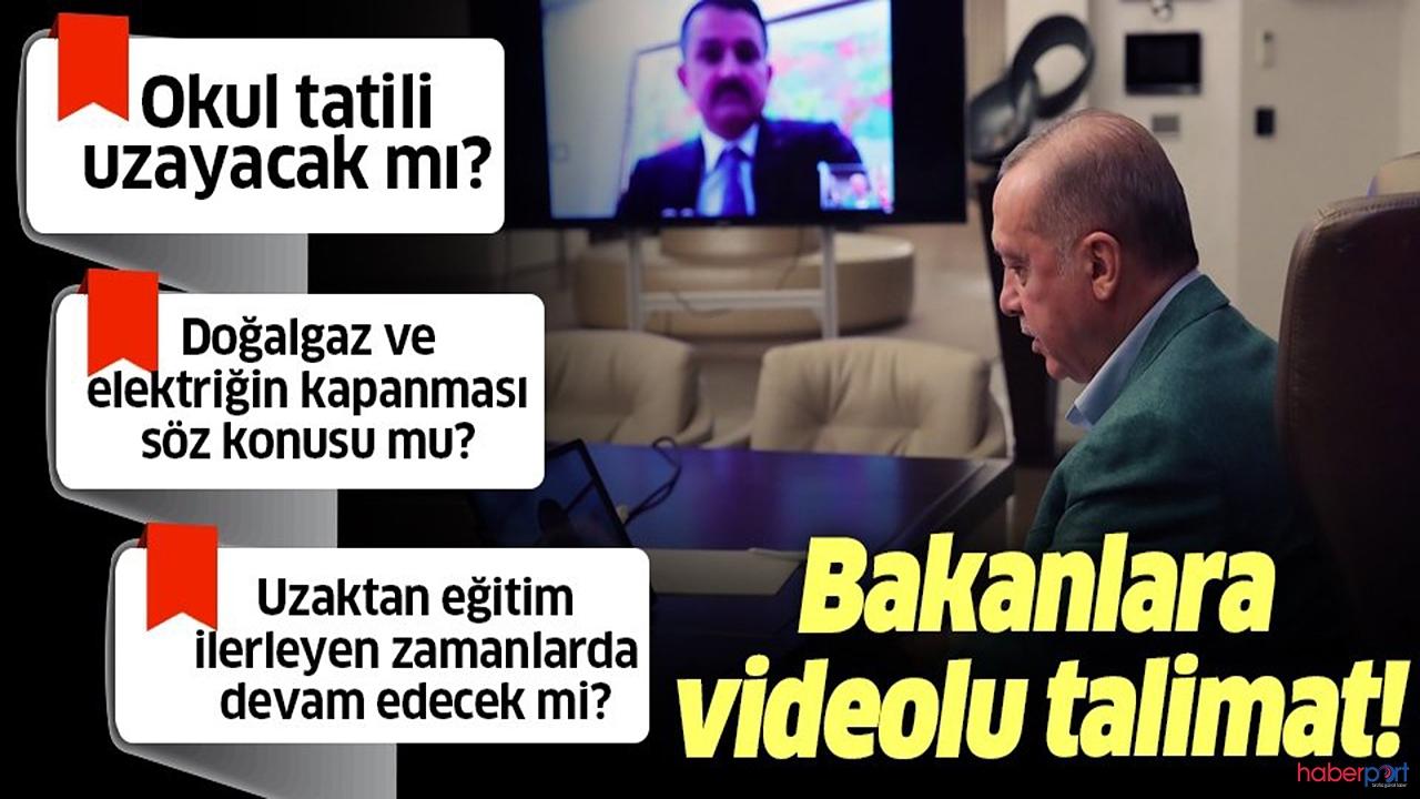 Cumhurbaşkanı Erdoğan'dan kritik korona virüs tedbiri açıklamaları