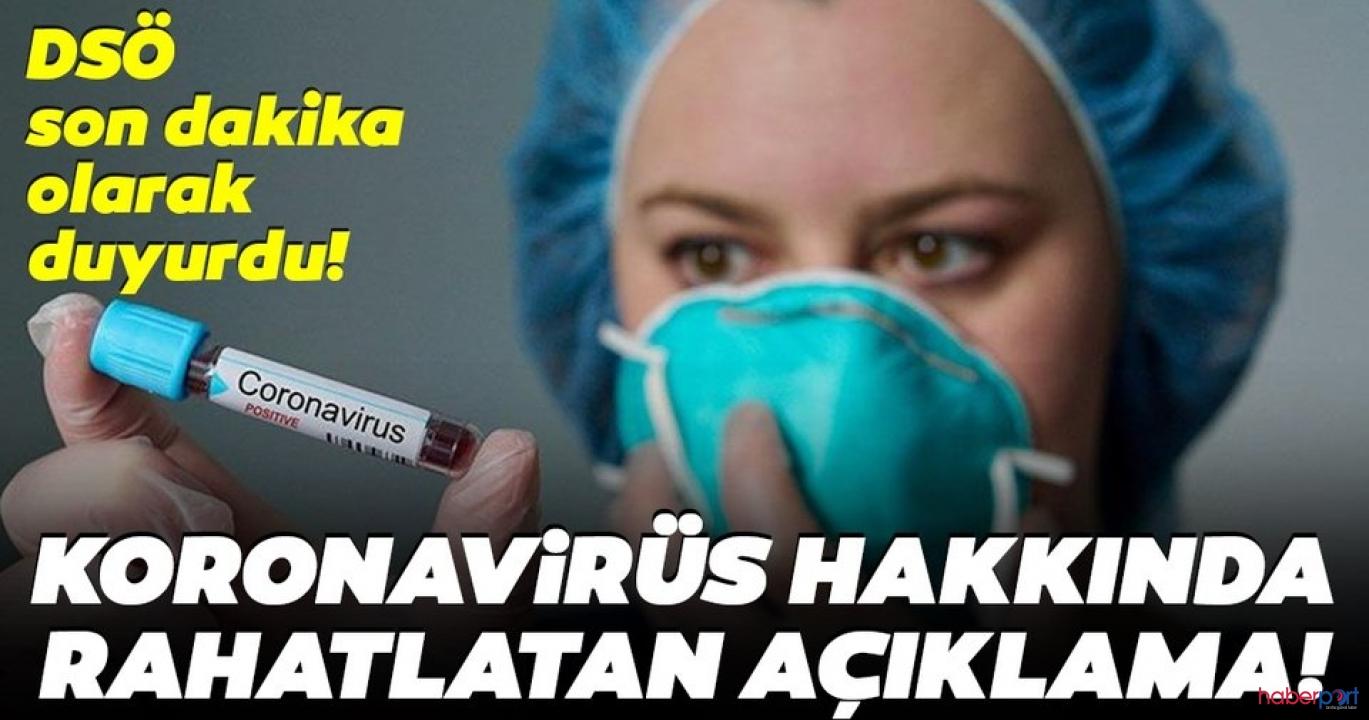 Dünya Sağlık Örgütünden önemli açıklama! Virüs hava yoluyla bulaşmıyor