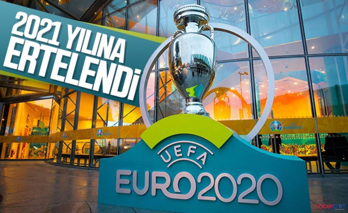 EURO 2020 koronavirüsü tedbirleri kapsamında 2021'e ertelendi