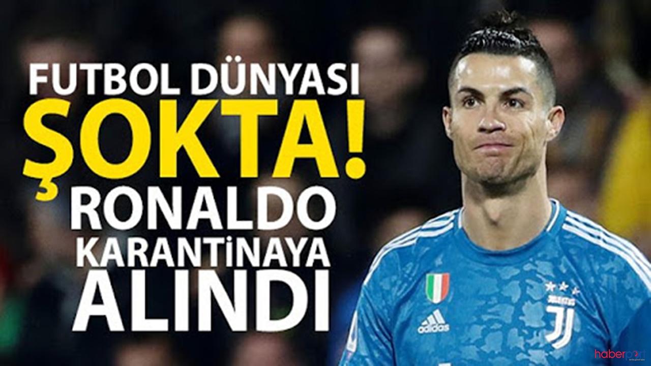 Flaş haber ! Cristiano Ronaldo'da korona- virüs şüphesi ! Ünlü futbolcu Karantina da