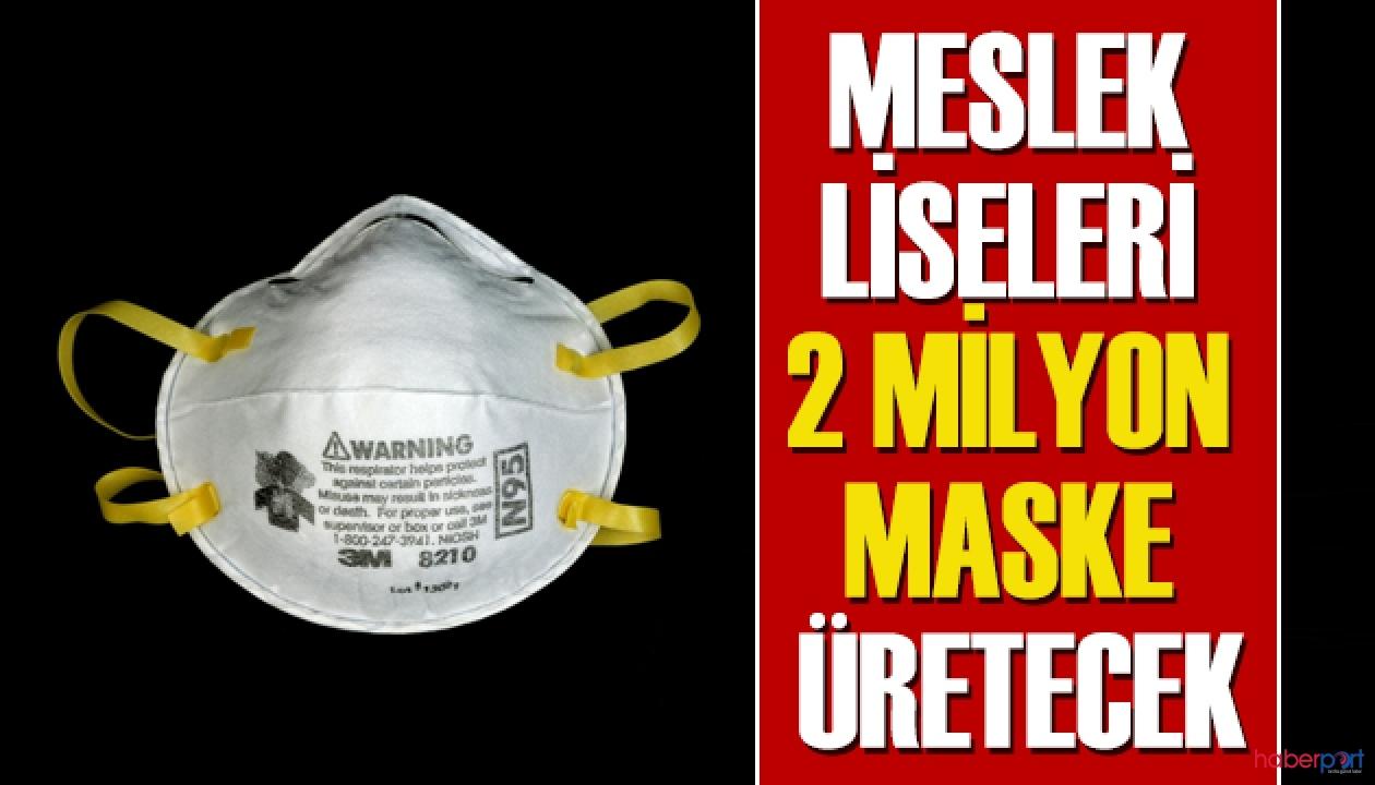 Hazırlıklar tamam! Ayda 2 milyon cerrahi maske üretilecek