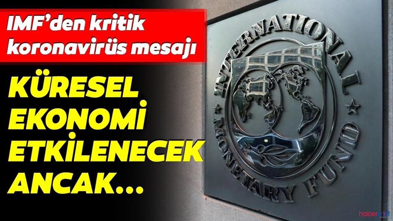IMF'den Kovid 19'un ekonomiye etkisi geçici olacak açıklaması geldi