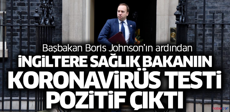 İngiltere Sağlık Bakanı Hancock, yeni tip koronavirüse yakalandı