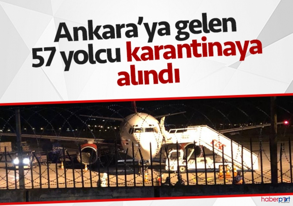 Irak'tan Ankara'ya gelen 57 Türk işçi acil durum koduyla karantinaya alındı