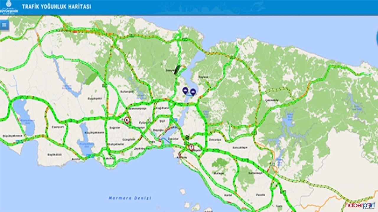 İstanbul'da kuş uçmuyor! Trafik yoğunluğu yüzde 7