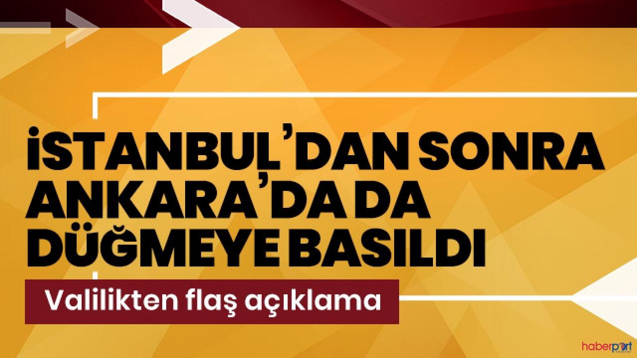 İstanbul'dan sonra Ankara Valiliğide yasakladı!