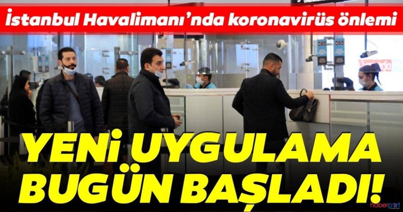 İstanbul Havalimanı'na koronavirüsüne önlem için kırmızı bantlar çekildi