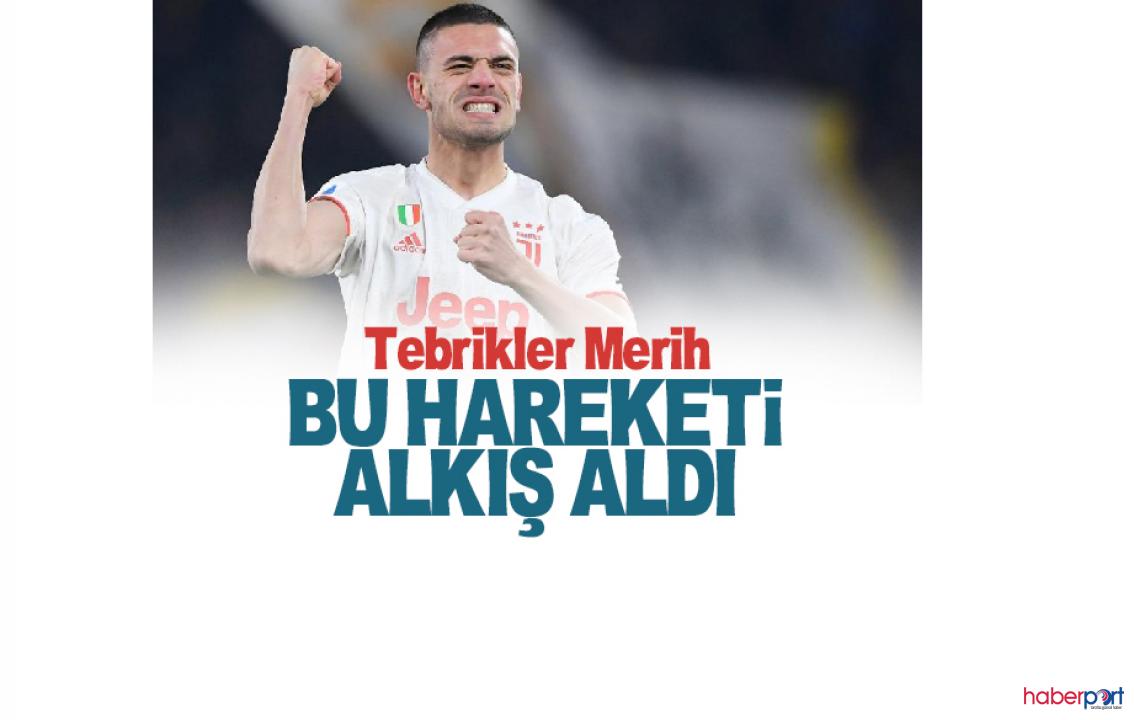 Juventus forması giyen Merih Demiral'dan örnek davranışlar!