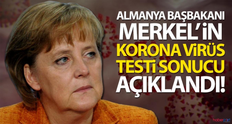 Kendini karantinaya almıştı! Başbakan Merkel'in test sonuçları belli oldu