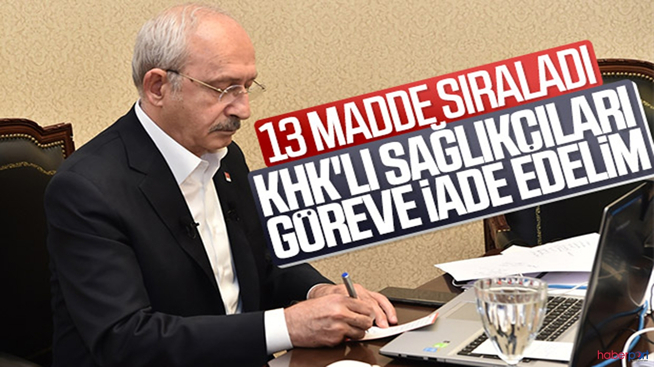 """Kılıçdaroğlu:""""Sağlık çalışanlarına her ay 2 maaş ödenmeli"""""""