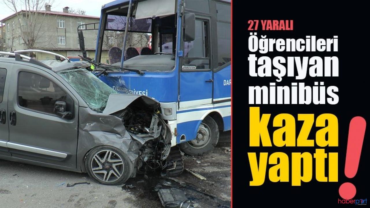 Kocaeli'de öğrenci servisi kaza yaptı; Çok sayıda yaralı var!