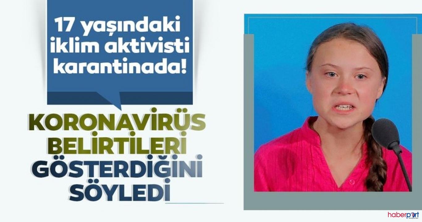 Koronavirüsü belirtisi gösteren Greta Thunberg ve babası karantinada!