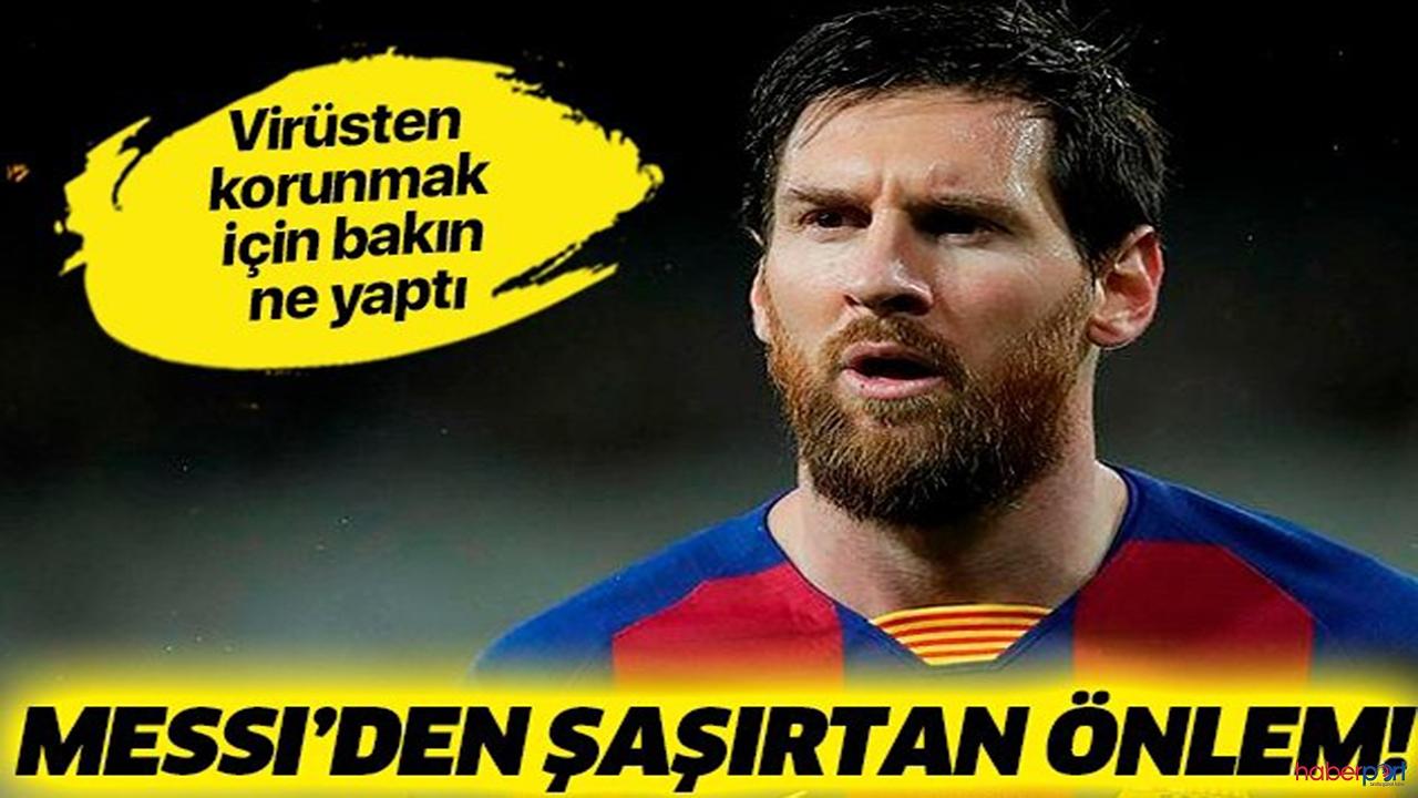 Lionel Messi korona virüsüne karşı sakallarından vazgeçti