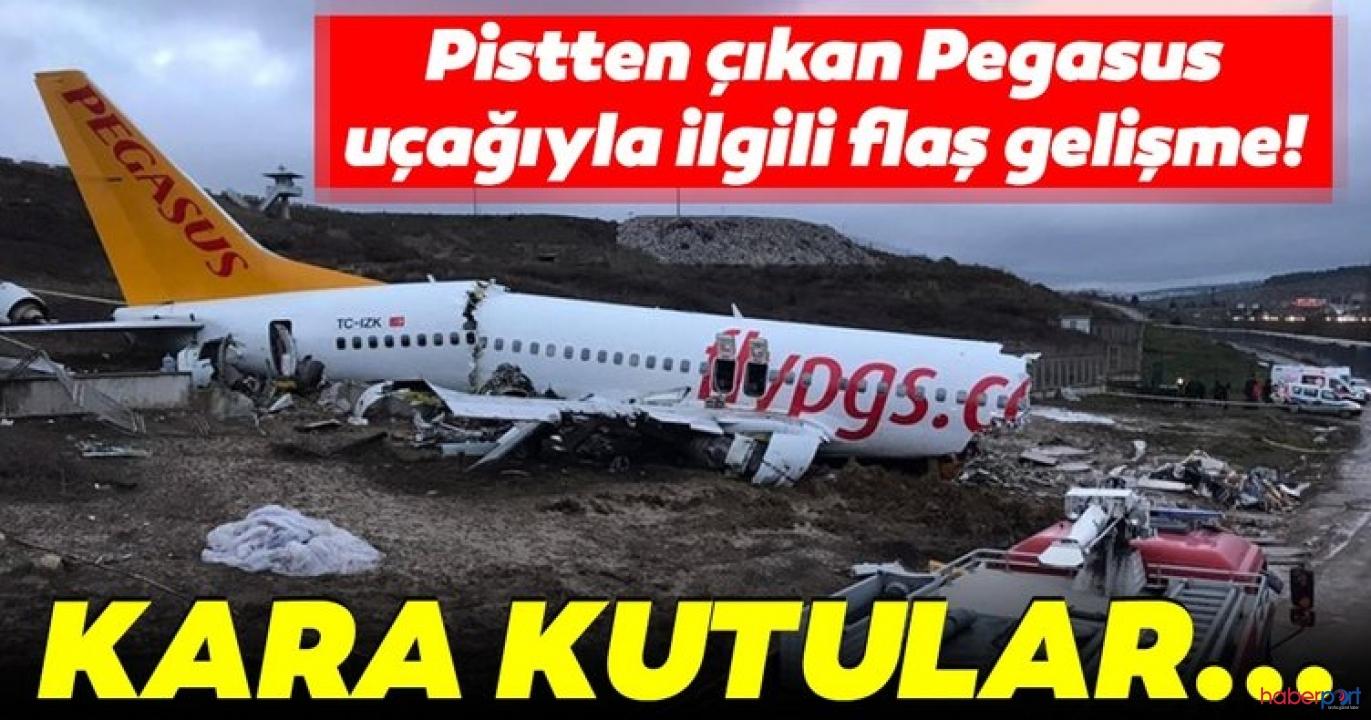 Pistten çıkarak kaza yapan Pegasus uçağının ön raporu hazırlandı