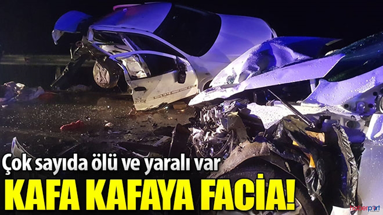 Sinop-Boyabat kara yolununda feci trafik kazası ! 4  ölü,6 yaralı