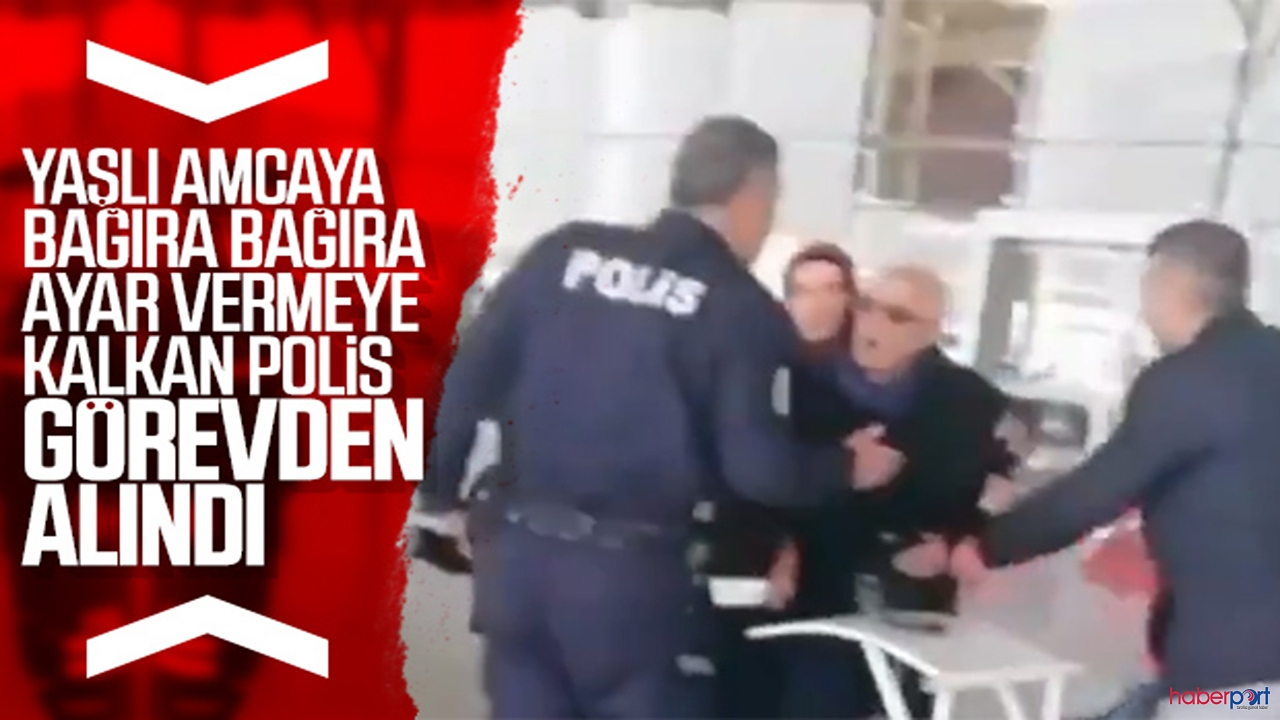 Valilik olaya el attı! Yaşlı adama saygısızca davranan o polis açığa alındı