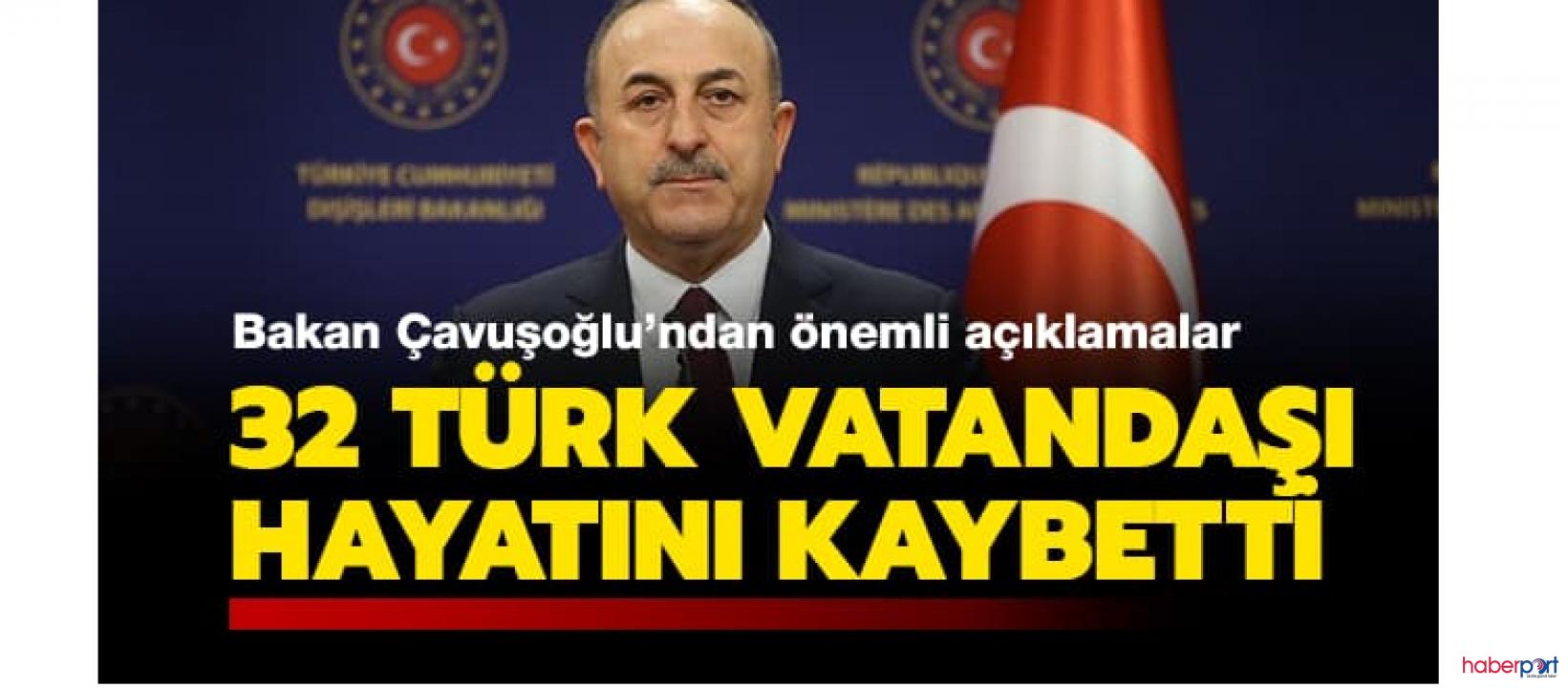 Yurt dışında yaşayan 32 Türk vatandaşı koronavirüsünden yaşamını yitirdi