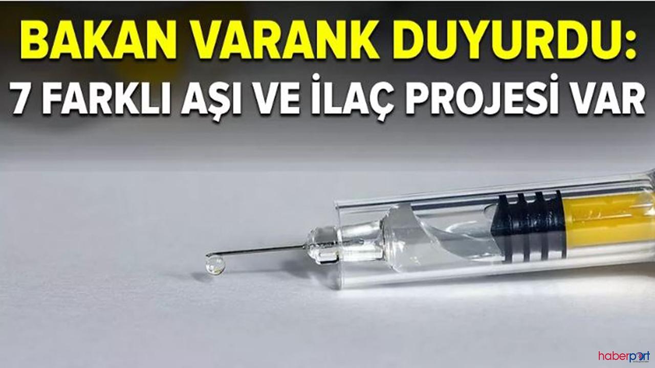 """Bakan Varank'tan heyecanlandıran açıklama:""""7 aşı ve 7 ilaç çalışmaları başladı"""""""