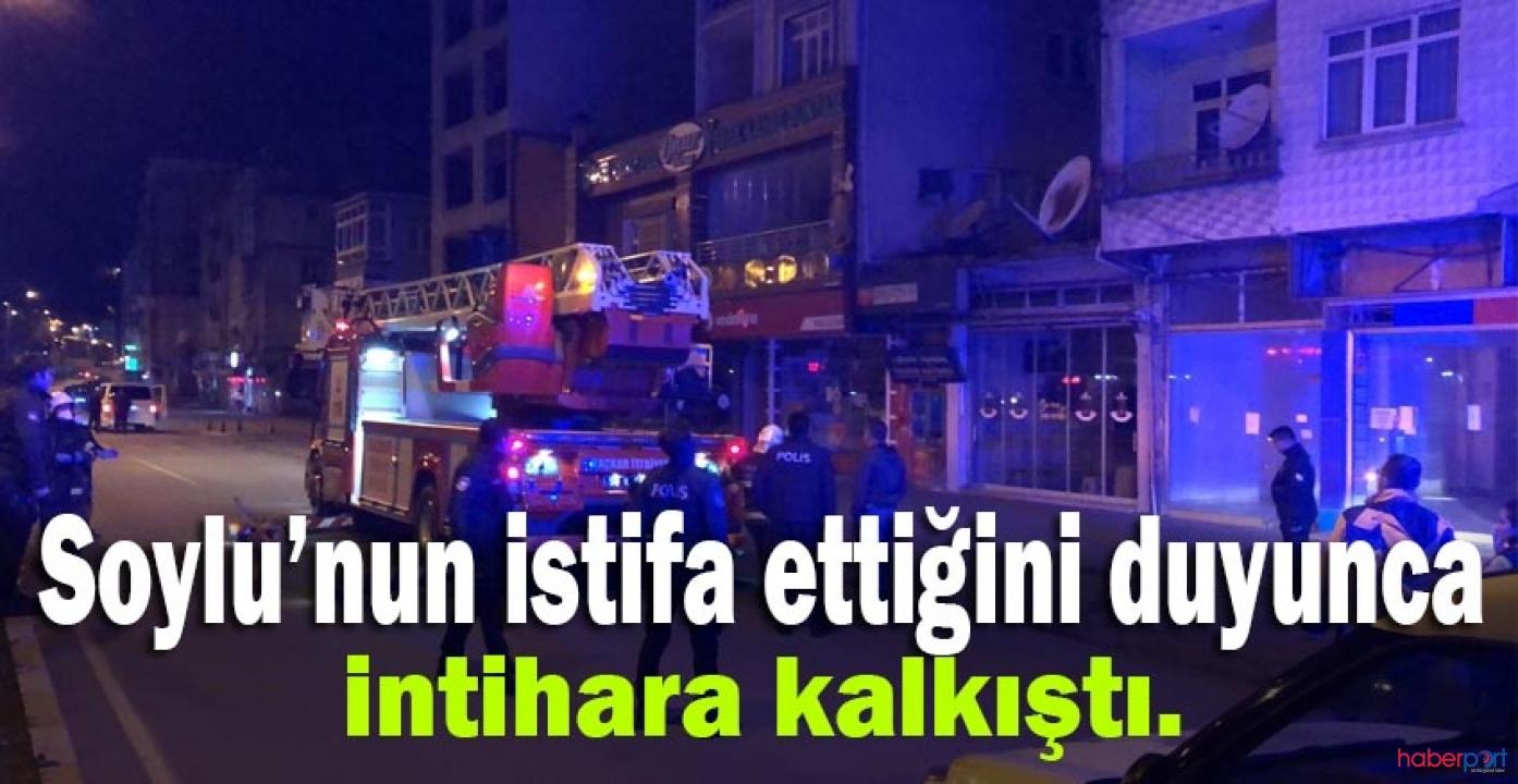 Bakan Soylu'nun istifa haberini duyan vatandaş kendini öldürmek istedi