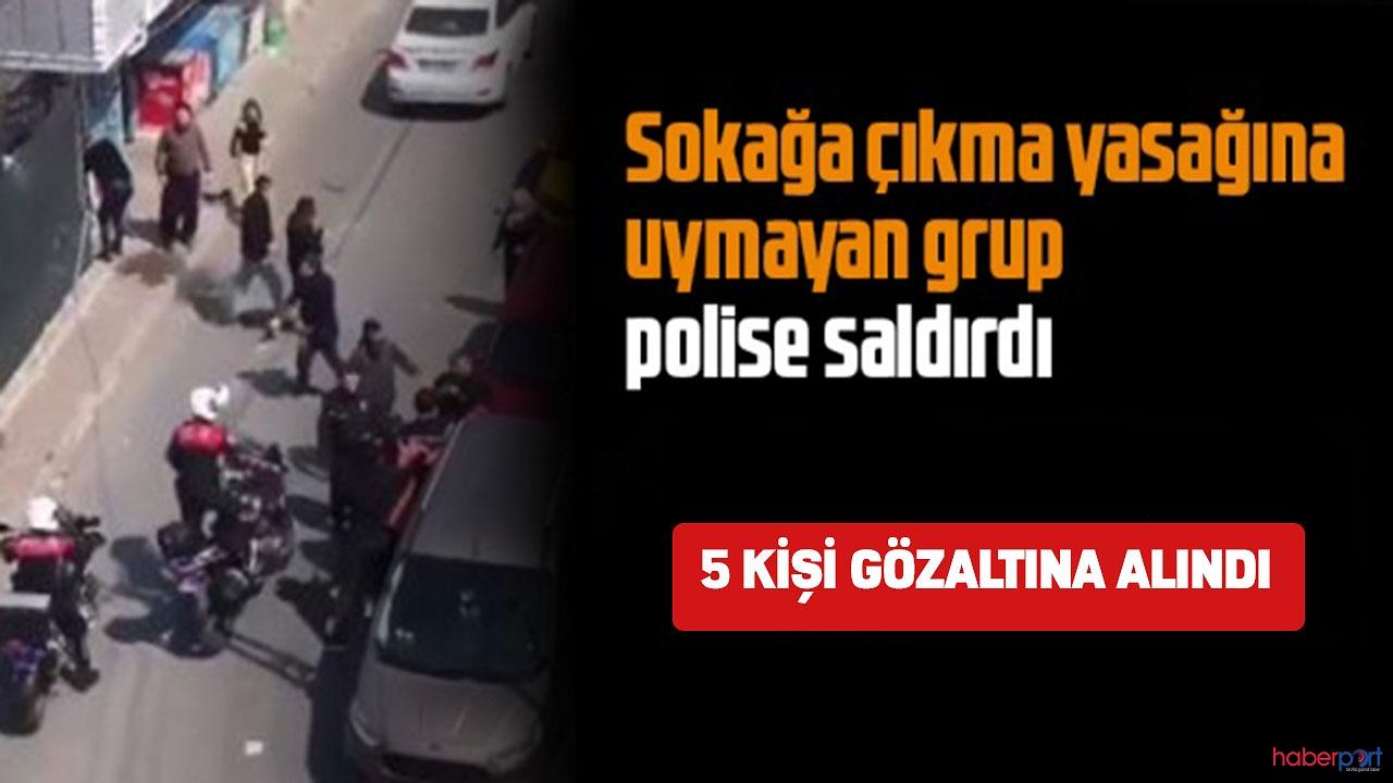 Bursa'da sokağa çıkma yasağını hatırlatan polise sopalı saldırı!