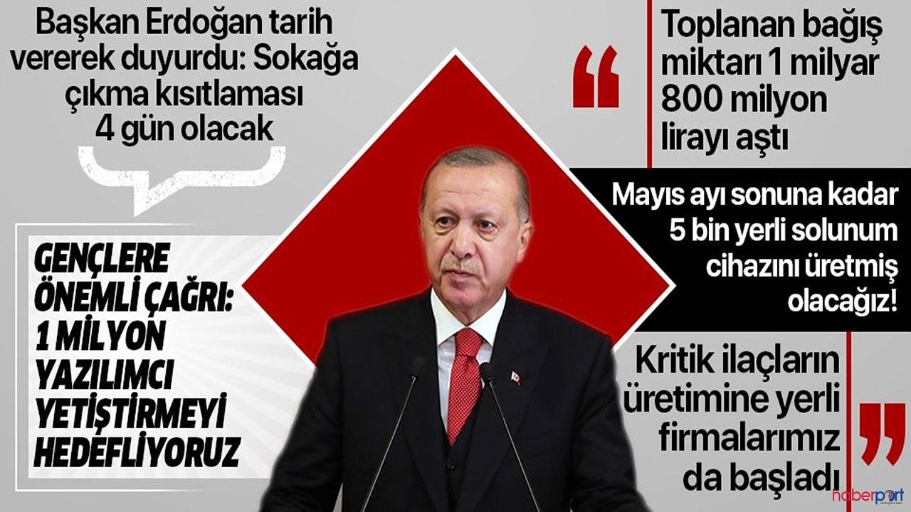 Cumhurbaşkanı Erdoğan'dan kritik açıklamalar! 23 Nisan haftası 4 gün sokağa çıkma yasağı ilan edildi