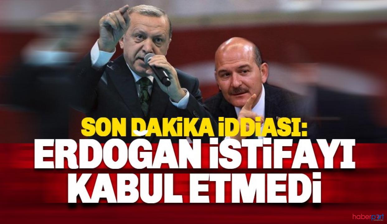 Cumhurbaşkanı Erdoğan Bakan Soylu'nun istifasını kabul etmedi