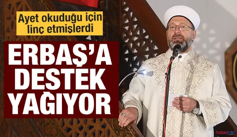 Diyanet İşleri Başkanı Ali Erbaş'a Beştepe'den destek