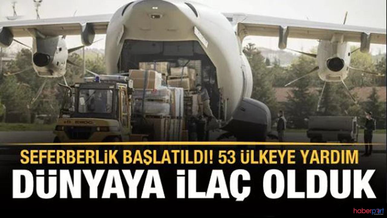 Dünya'ya tıbbi destek Türkiye'den