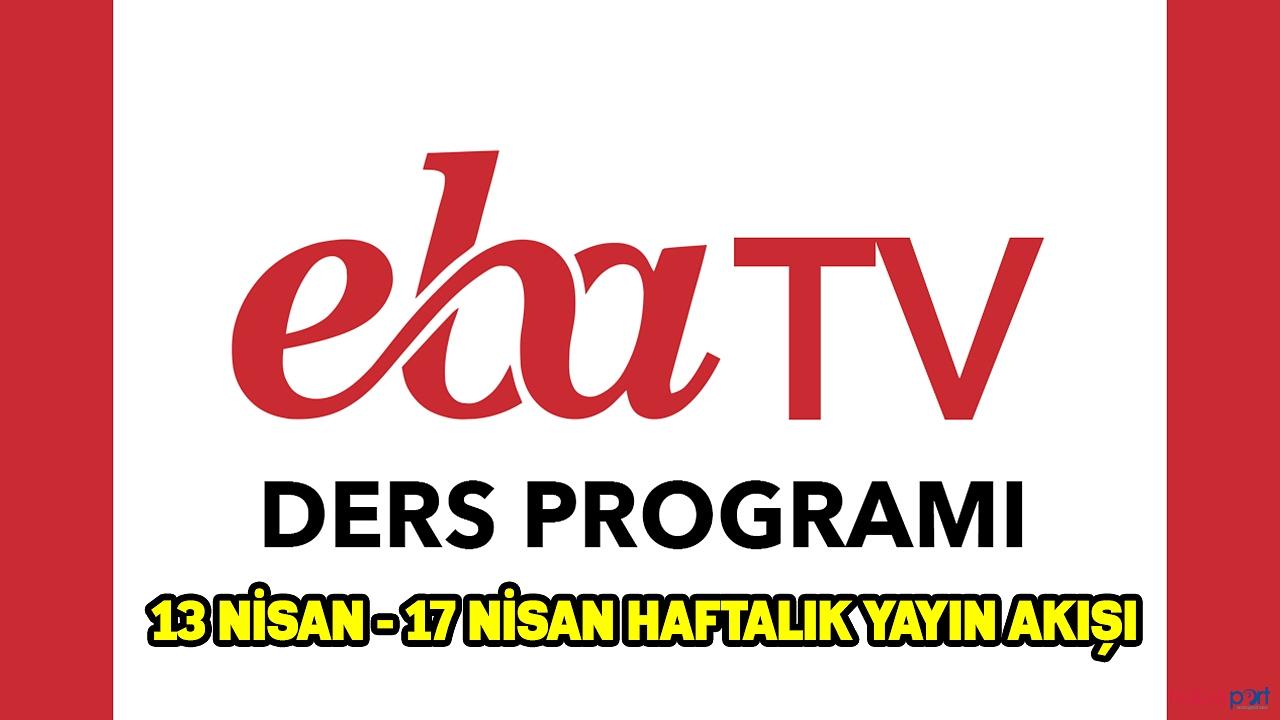 EBA TV yayın akışı ilkokul,ortaokul ve lise dersleri ve tekrar ders saatleri 17 Nisan cuma